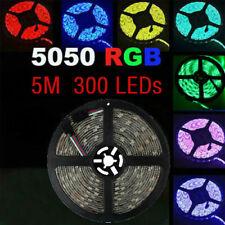 SUPERNIGHT® 5M RGB 60leds/M SMD 5050 Waterproof 12V LED Strip Light 300Leds/Roll