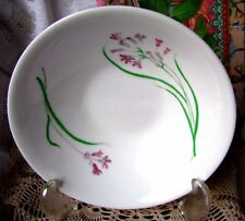 """Martha Stewart Everyday Pacific Wildflower Cereal Bowl 6 1/2"""" White Glass Bowl"""