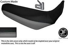 BLACK & GREY VINYL CUSTOM FITS YAMAHA XT 660 R 04-17 DUAL SEAT COVER