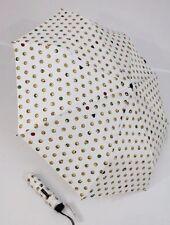 Happy Rain weißer Regenschirm Emoticon bunter Taschenschirm 42086