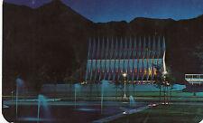 postcard USA    Colorado  Springs Cadet Chapel at night US air force  acadamy