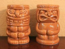 Tiki Face Shaped Kitchen Salt and Pepper Shakers Brand New