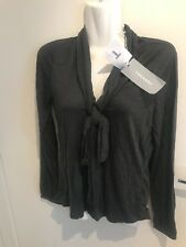 Trenery Top/ Blouse Size XS Dark Charcoal Colour Rrp79.95