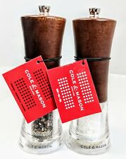 NEW! Cole & Mason H304692PTA Salt and Pepper Mill Set Genoa Forest Wood Gift