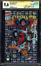 NEW MUTANTS #100 CGC 9.6 WHITE PAGES SS STAN LEE 1ST OF X-FORCE CGC #0351034002