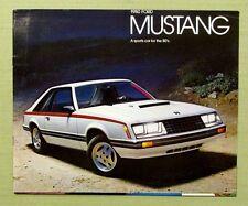 1980 ORIGINAL FORD MUSTANG BROCHURE Cobra GHIA Sporty 2 Door Turbo Engine 20 pgs