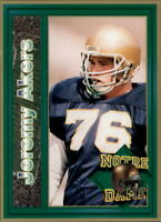 1993 Notre Dame Football Base Singles (Pick Your Cards)