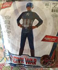 Rubies Marvel Captain America Civil War Halloween Child Costume Size 4-6X New!