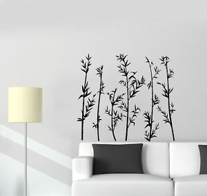 Vinyl Wall Decal Bamboo Forest Nature Bedroom Home Interior Stickers (ig5495)