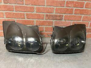 99 Mitsubishi 3000GT Headlights Pair Set W/ Halos
