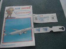 JOURNAL JUNIORS COMPAGNIE AIR INTER 1994 + BILLET AVION + ETIQUETTE BAGAGE