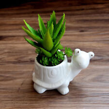 Tortoise Ceramic Flower Pot Succulent Plant Flowerpot Planter Desktop Diy Decor