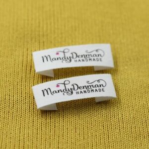 Personalized Sewing Handmade Tags Custom Name Cotton Ribbon Logo Print Labels