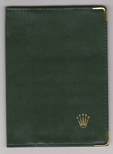 The Rolex dark green color passport holder  0068.08.05