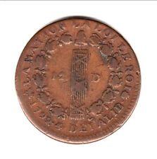 LOUIS XVI 12 DENIERS 1792 B  variètè  4/3  et   2/1  TTB