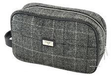 Harris Tweed  Grey Check Washbag/Cosmetic Bag  LB2102 Col11