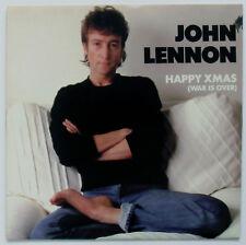 JOHN LENNON Happy Xmas / Super Rare Geffen M/S Promo 45 / Pic Sleeve / BEATLES