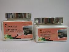 Dead Sea Of Spa Gift Set of 2 - Body Butter + Body Scrub + FREE SHIPPING