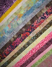 "Fabric-5"" Strips-All Batik-Scraps-Remnants-100% Cotton-Quilting-By the POUND +++"