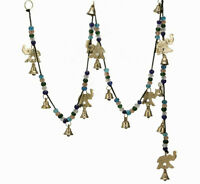 Large Wind Chimes Outdoor Relaxing Tones Brass Elephant Bells on String 56 inch