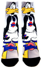 LOONEY TUNES SPACE JAM DAFFY DUCK LOGO SUBLIMATED ALL OVER PRINT MENS CREW SOCKS