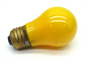 (6-Pack) GE 15A/Y Incandescent 15-Watt A15 Yellow Lamp Light Bulbs 15W 115-125V