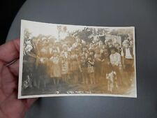 Gypsy Party Baildon ShipleyYorkshire 1929 photographic POSTCARD authentic  p