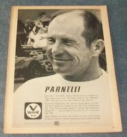 1969 Valvoline Motor Oil Vintage Ad with Parnelli Jones USAC Racing