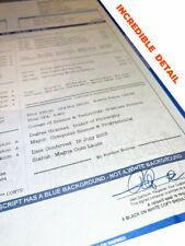 Fake College University Transcripts, or High School Transcripts   Looks Real