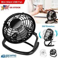 Portable Mini USB Desk Fan Super Quiet Home Office Electric Computer Air Cooler
