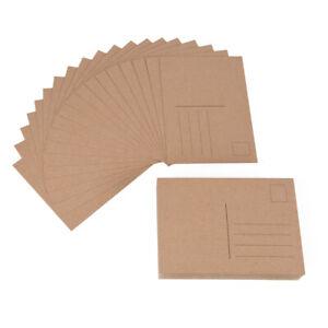 ewtshop® 100 blanko Postkarten aus Kraftpapier, Format A6, Geburtstagskarte
