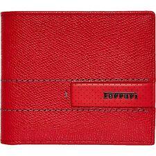 FERARRI GT 2 Note Red Leather Pockets Wallet