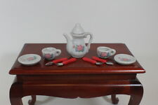 Ceramic Roses Mini Tea Set for American Girl Doll Food Accessory From Us Seller!