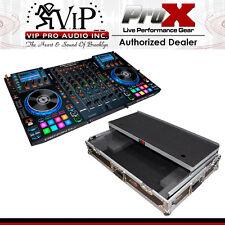 Denon MCX8000 DJ Controller w/ Flight Road Case w/ Laptop Shelf & Wheels BUNDLE