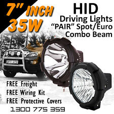 HID Xenon Driving Lights - Pair 7 Inch 35w Spot/Euro Combo Beam 4x4 4wd Off Road