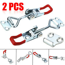 2Pcs Steel Toggle Latch Catches Adjustable Lock Clamp For Cabinet Boxes Case