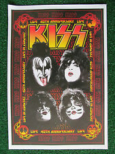 KISS 40th Anniversary Limited Edition Print Live In Concert 232/1500