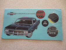 Original 1966 Chevrolet cars accessories advertising booklet