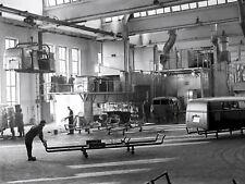 Volkswagen Bus 1950s Production Line Wolfsburg 8 x 10 photograph