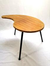 Table tripode haricot pieds acier design années 50 - 60