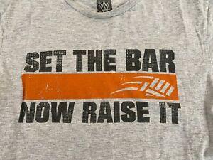 See the Bar Now Raise It John Cena WWE T-Shirt Youth Large NXT AEW Hustle