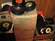 SOME GREAT HITS MIXED LOT OF 100 - 45 RPM VINYL RECORDS 60's / 70's