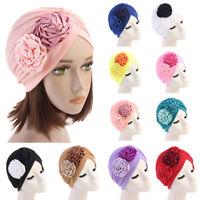 Muslim Women Floral Hijab Cap Stretch Cancer Turban Scarf Headwear Hat Hair Loss