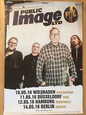 PUBLIC IMAGE LTD. 2016 TOUR   - orig.Concert Poster - Konzert Plakat  NEU
