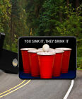Fun BEER PONG You Sink It They Drink It     new Trailer Hitch Cover Plug