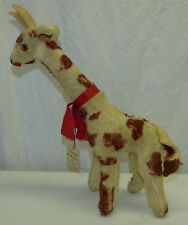 "Vintage 1950s 60s Gloria Toy Co. 15"" Plush Stuffed Animal Giraffe w Original Tag"