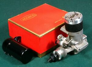 "NIB MERCO ""61"" GLOW TWIN PLUG 2 CYCLE ENGLISH RC MODEL AIRPLANE ENGINE W/MUFFLER"