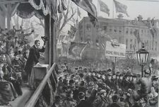 1893 Large Engraving - Ulster Demonstration in Belfast - Opposition to Home Rule