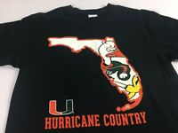 Miami T-Shirt Adult SZ S/M Hurricane Country Canes The U Student Alumni Graduate