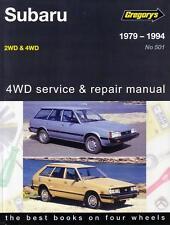 GREGORYS WORKSHOP REPAIR MANUAL SUBARU 2/4WD 1600 1800